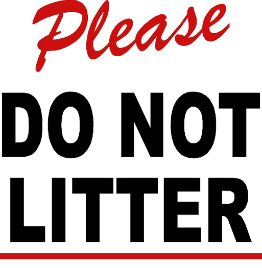 Do Not Litter Sign News Flash