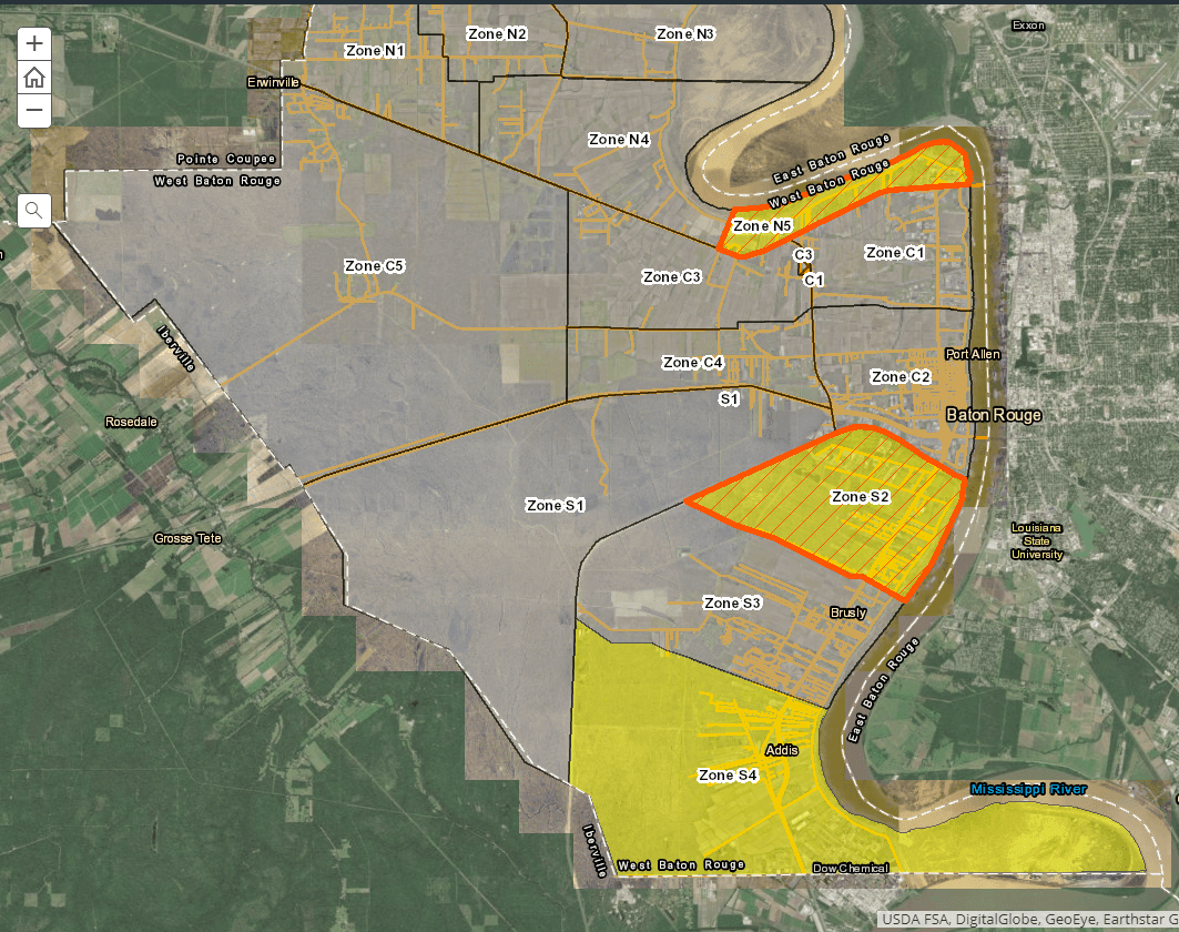 GIS Spray Zone Map