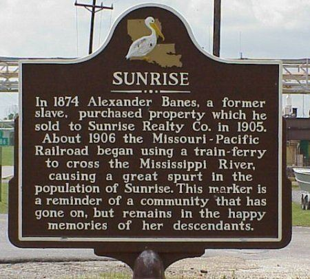 Sunrise Historical Marker